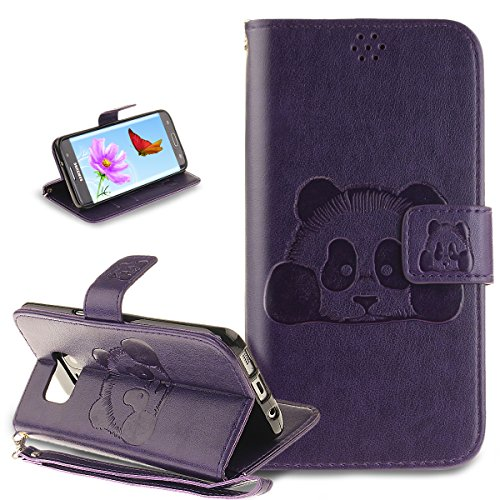 Coque Galaxy S7 Edge,Etui Galaxy S7 Edge, ikasus® Coque Galaxy S7 Edge Bookstyle Étui Housse en Cuir Case, Motif Gaufrage Chat papillon Fleur Floral forme arbre Motif Etui Housse Cuir PU Portefeuille Folio Flip Case Cover Wallet Coque Protection Étui avec Flex Soft Silicone TPU et Fonction Support Fermeture Aimantée Carte de crédit Logement Poches Case Coque Housse Étui pour Samsung Galaxy S7 Edge - Gris