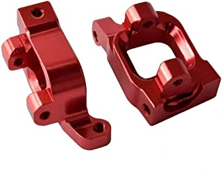 Toyoutdoorparts RC BE6038 Red Aluminum Front Hub Carrier(L/R) Fit LC Racing 1/14 Electric EMB