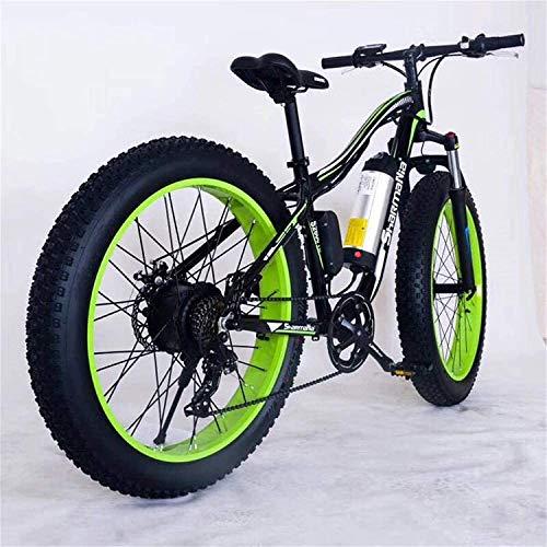 Bicicleta Eléctrica Plegable Bicicleta eléctrica de nieve, 26 'Bicicleta de montaña eléctrica 36 V 350W 10.4AH Batería de litería extraíble de iones de litio extraíble para deportes Ciclismo Viajes De