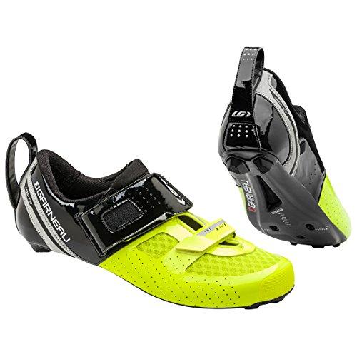 Louis Garneau - Men's Tri X-Lite Triathlon 2 Bike Shoes, Black/Bright Yellow, US (11), EU (45.5)