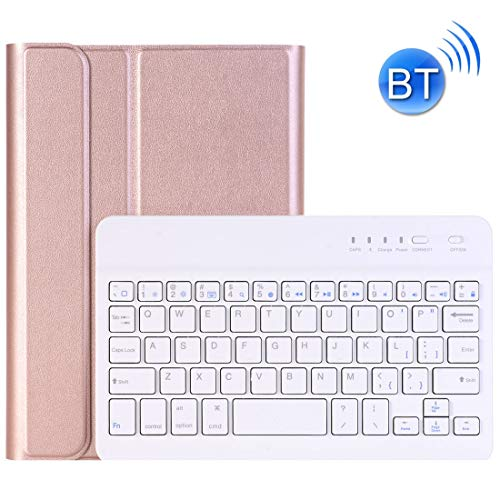 Bluetooth Keyboard For iPad Mini 4 Ultra-thin ABS Bluetooth Keyboard Horizontal Flip Leather Case with Holder LiMinHua (Color : Rose Gold)