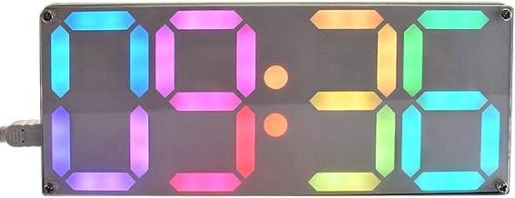 WE-WHLL Kit de Bricolaje para Reloj Digital con Tubo de Color arcoíris Grande DS3231 con Colores Personalizables
