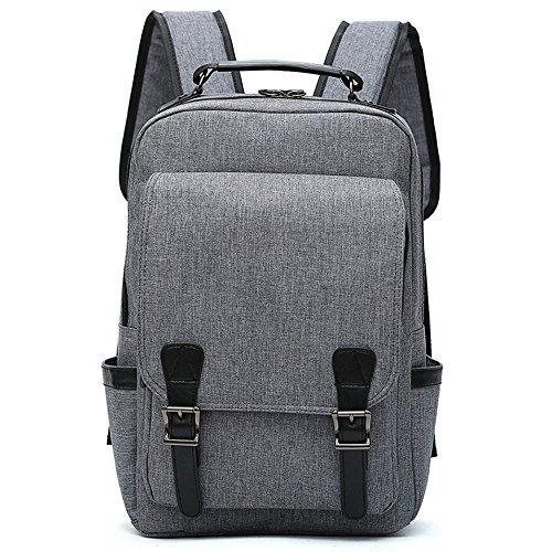 TSY Nieuwste Canvas Laptop Rugzak, 35 Liter Ruime Zakelijke Reizen Computer Tas voor Vrouwen & Mannen Past tot 15.6 inch Laptop, Waterbestendig Duurzaam College School Bookbag