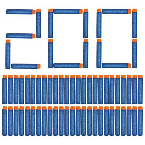 Darts Pfeile für Nerf Zubehör NextX 7.2cm Pfeile Refill Bullets Darts für N-Strike Elite Blasters Spielzeugpistole Box-Verpackung 200 Stück
