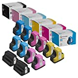 LD Remanufactured Ink Cartridge Replacement for HP 02 (3 Black, 2 Cyan, 2 Magenta, 2 Yellow, 2 Light Cyan, 2 Light Magenta, 13-Pack)