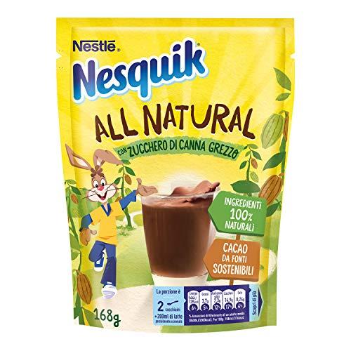 Nesquik All Natural Cacao Solubile per Latte 8 Confezioni da 168 g