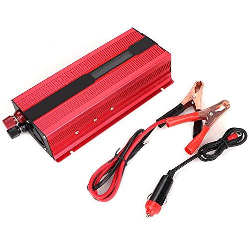 Inversor de corriente de 6000 W CC 12 V a CA 220 V Convertidor de coche Inversor de 12 V con enchufe y USB y adaptador de encendedor de cigarrillos de 12 V con pantalla LED para camión RV