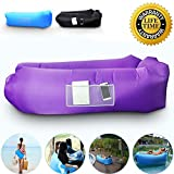 AngLink Outdoor Inflatable Lounger Couch, Thick Durable Comfortable,...