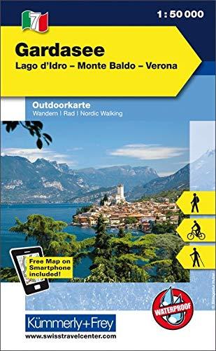 Italien Outdoorkarte 07 Gardasee 1 : 35.000: Lago d'Idro-Monte Baldeo-Verona. Wanderwege, Radwanderwege, Nordic Walking (Kümmerly+Frey Outdoorkarten Italien)