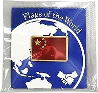 世界の国旗 ピンバッジ Sサイズ 8×12mm:中国