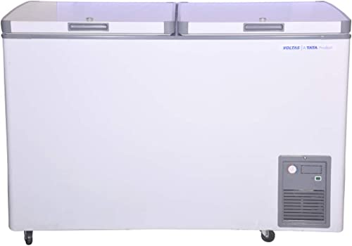 Voltas CF HT 320 DD P Double Door Deep Freezer, 320 Liters, White