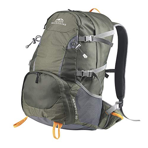 Dutch Mountains - Zaino da trekking, 40 l, verde, 55 x34 x 25cm