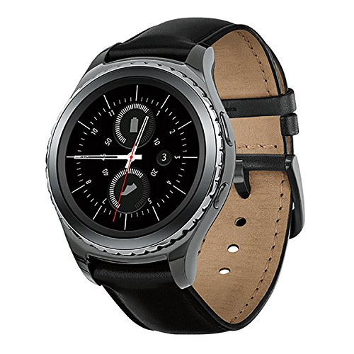 Samsung Gear S2 Classic Smartwatch w/Rotating Bezel and Leather Strap - Black 4