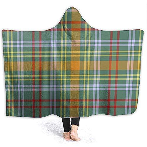 Mit Kapuze Decke, tragbare Kapuze Throw Decken Wickeln, Bunte Plaid O 'Brien Tartan Print weiche Kinder Decke Geschenk gemütlichen magischen Umhang