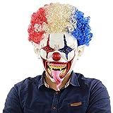 TMOYJPX Mascara Halloween Payaso Terror Adultos Original, Máscara Halloween Realista Casco Disfraz C...