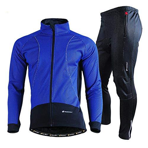 BEYONDTIME Invierno al aire libre Trajes de Ciclismo Deportes Trajes para Hombres Impermeable Polar Para Mantener Caliente B-3XL