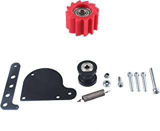 JRL Black Chain Tensioner Red Wheel 49cc 66cc 80cc 2-Stroke Engine Motorized Bicycle