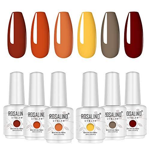 ROSALIND uv Nagellack Gel LED Gellack Farbenset UV Farbgel Nail art Soak off Varnish Pastell Lack Akt Maniküre 15ml