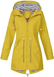 FRAUIT Giacca A Vento Donna Impermeabile Giacche Pioggia Giubbotto Trekking Leggera Cappotto Ragazza Invernale Elegante Lu...