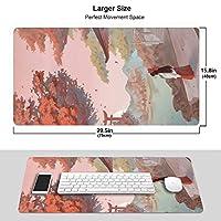 いぬやしゃ Inuyasha マウスパッド 大型 超大型 光学式 レーザー式に対応 FPSゲーム ラバー素材採用 水洗い 滑り止め 耐久性が良い 高級感 おしゃれ マウス用パッド キーボードパッド デスクマット ズ オフィス/自宅兼用(サイズ:750×400×3mm)