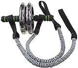 Abdominal Cuerda de Tracción, Cuerda Fitness Elástico. Accesorios para Ejercicio Gimnasia- 2pcs/pair . Ruedas no incluidas.
