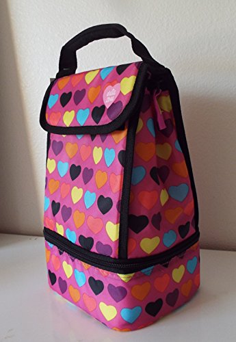Arctic Zone Insulated Lunch Pack-Colorful Hearts-2 Storage Compartments by Arctic Zone