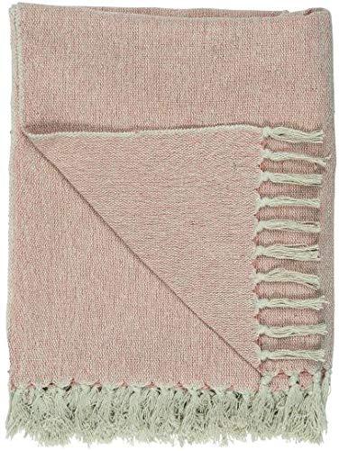 IB Laursen Decke Plaid Creme/Faded Rose