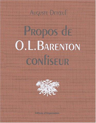 Propos de O.-L. Barenton confiseur
