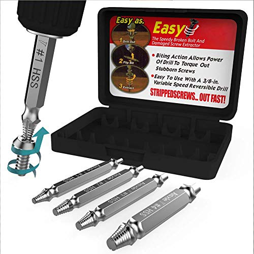 Made from H.S.S YiRAN Damaged Screw Remover and Extractor Set The Hardness is 62-63hrc 4341# Set of 6