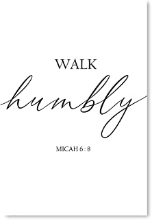 Awkward Styles Walk Humbly Bible Verse Scripture Poster Bible Verse Vinyl Wall Art Bible Quotes Poster Holy Bible Wall Decal Christian Decor 24