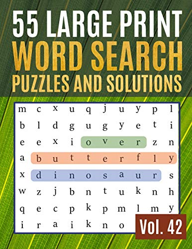 Compare Textbook Prices for 55 Large Print Word Search Puzzles and Solutions: Activity Book for Adults and kids   Word Search Puzzle: Wordsearch puzzle books for adults entertainment Large Print Find Words for Adults & Seniors Large type / Large print Edition ISBN 9781077757615 by Thomas, Sonya