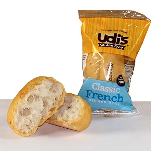 Udi's Gluten Free Individually Wrapped French Dinner Rolls, 1.02 oz., Pack of 36