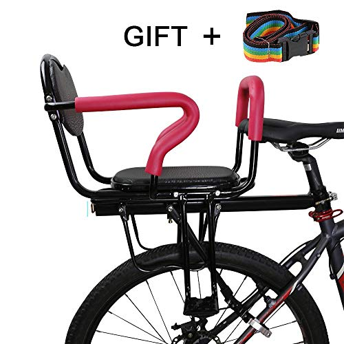 Travel Pillows Bicycle Child seat, Detachable Anti-Skid armrest and Pedal Electric Bicycle/Bicycle Child Safety Rear seat, Suitable for Children from 2 to 6 Years Old