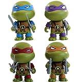TMNT Teenage Mutant Ninja Tortue Animé Personnage Modèle Voiture Jouet Décoration Décoration Cadeaux -Birthday pour Enfants A