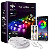 QJB Led Strip Lights Bluetooth - 65.6Ft RGB 5050 Led Music Sync Color Changing Lights, App Controlled - for Bedroom