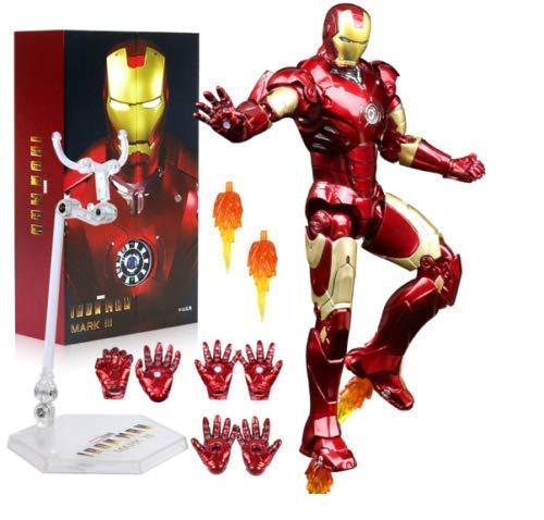 FIGLot ZD Toys Iron Man Mark 3 Mark III 7' Action Figure