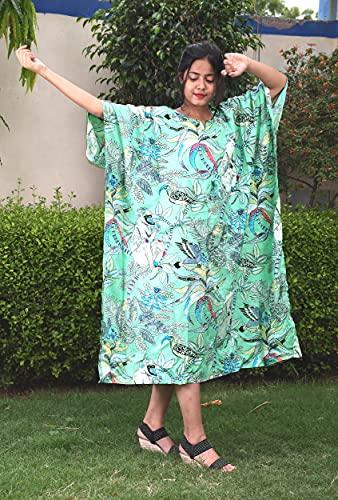 iinfinize Nachthemd Hippie Frauen Mode Kleidung indische handgemachte Nachtkleidung Kaftan Frauen Kleid Hand Block Gedruckt Baumwolle Badeanzug Damen Baumwolle Maxi