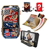 Tony Hawk Box Boarders Action Pack - David Loyi and Mystery Tony Hawk Figure - Includes 2 Skaters, 4 Trick Ramps and 1 Camera Holder - Skate, Shoot, Share! - Ages 4+