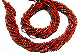 """Jewel Beads Natural Beautiful jewellery 13"""" Full Strand Natural Jasper Rondelles Approx 2.50mm Micro Cut Beads Drilled Gemstone Faceted Rondelle Israel Cut RoundCode:- JBB-14009"""