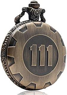 4 Theme Pendant Vault 111 Bronze Quartz Chain Pocket Watch