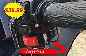 Cruise-Mate Black for Harley-Davidson Motorcycles 1996 - Present  Except 2014 + Touring Models Road King Road Glide Street Glide Electra Glide