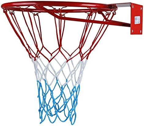 Kimet HangRing Panier de basketball de qualité avec anneau et filet Qualité et sécurité testées Dimensions 45 cm und 37 cm au choix