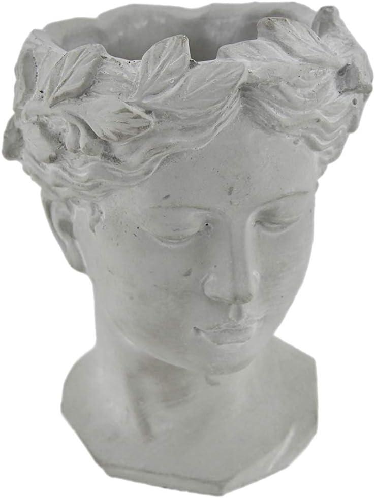 Zeckos Classic Greek Grey Lady 年末年始大決算 公式ショップ Cement Plante Indoor Outdoor Head
