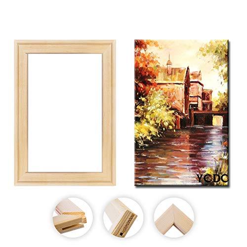 Bastidores de lona maciza, tiras de madera de pino premium, para pinturas al óleo, suministros de materiales de accesorios para manualidades, 40,6 x 50,8 cm