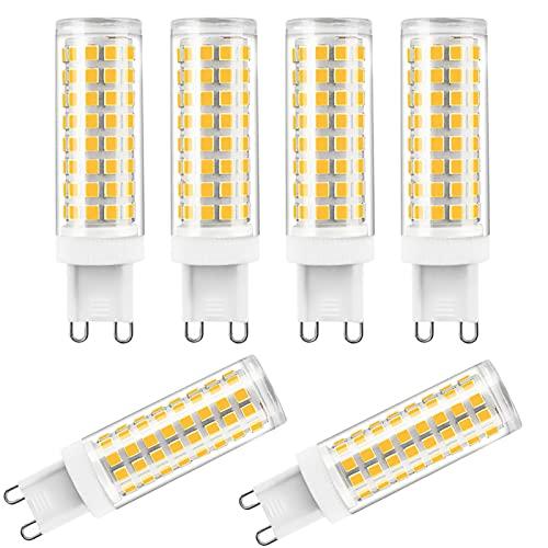ZJYX Paquete de 6 G9 Bombilla LED 12W Lámpara LED, Equivalente Halógena 120W, AC 220-240V, 1200LM Luz LED & lampara LED lampara ahorradora de energia,Cool White 6000k