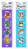 Re-marks Dinosaurs and Unicorn Doodles Page Clip Includes 2 Styles, 8 Page Clips
