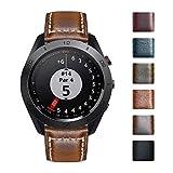 Bandas de reloj compatibles con Garmin Vívoactive 4S/3 Music/Forerunner 245 Music/645 Music,Vivomove 3/HR/Luxe,Fenix 3 HR/Fenix 5X Plus Smartwatch Correas de cuero de cera de aceite retro (18/20/26mm)