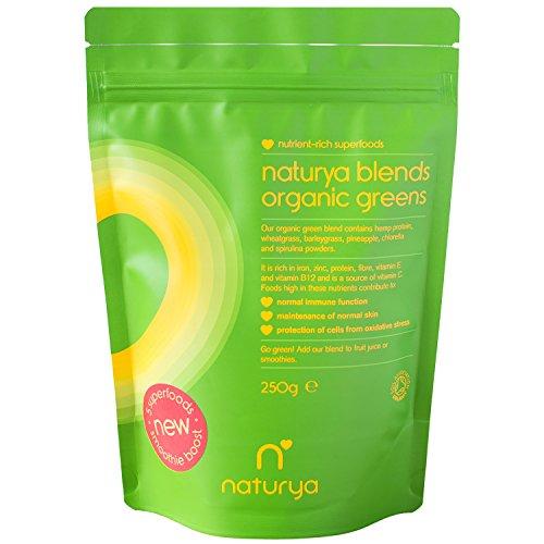 Naturya | Organic Green Superfood Powder Blend 250g | Alkaline, Vegan, Gluten-Free Superfood Powder