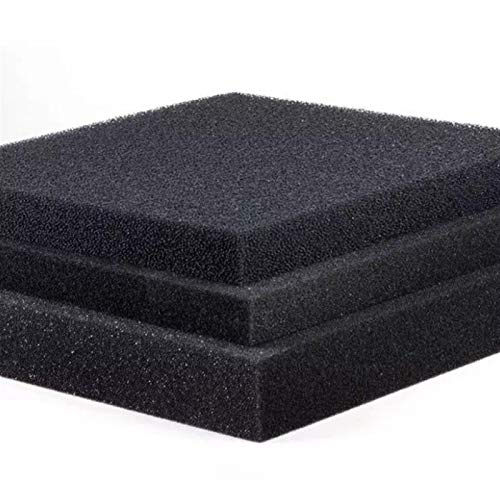 Aquariumzubehör 50cmx50cmx2cm Schwarz Filtration Foam Aquarium Biochemical Filter Schwammpad Skimmer Lange Use Time Sponge Vorratstank Aquarium (Color : 50x50x2cm, Size : Medium Hole)