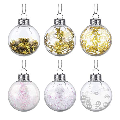 SIWJ 36pcs 6cm Christmas Ball Ornaments Christmas Hanging Balls Festive Adornment Balls for Christmas Party Banquet Christmas Ball